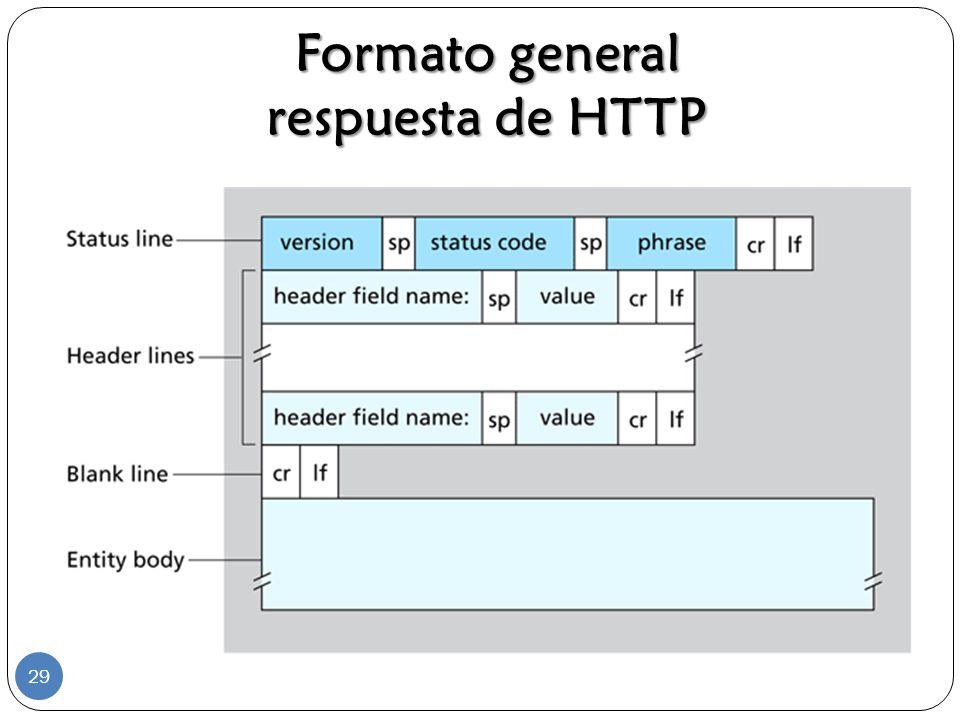 Formato general respuesta de HTTP 29