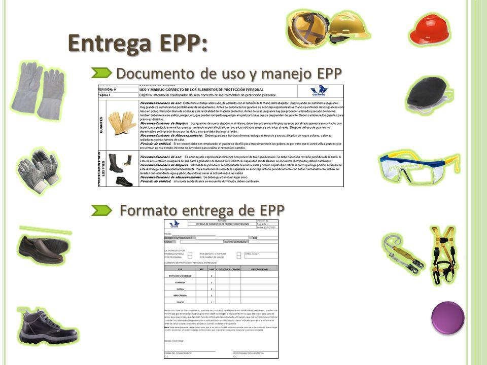 Entrega EPP: Documento de uso y manejo EPP Formato entrega de EPP Formato entrega de EPP