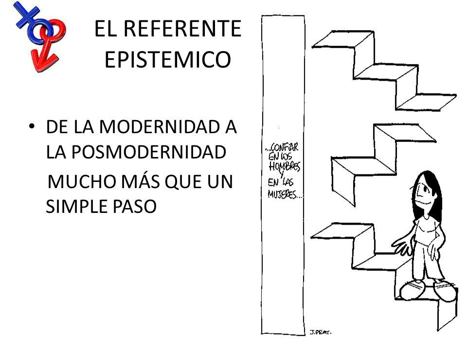 EL REFERENTE EPISTEMICO DE LA MODERNIDAD A LA POSMODERNIDAD MUCHO MÁS QUE UN SIMPLE PASO