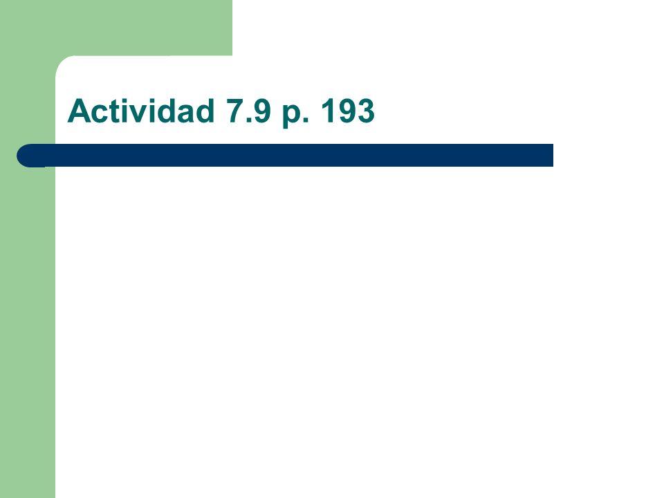 Actividad 7.9 p. 193