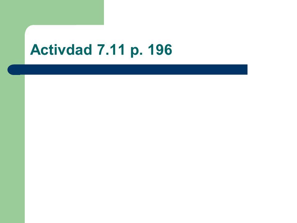 Activdad 7.11 p. 196