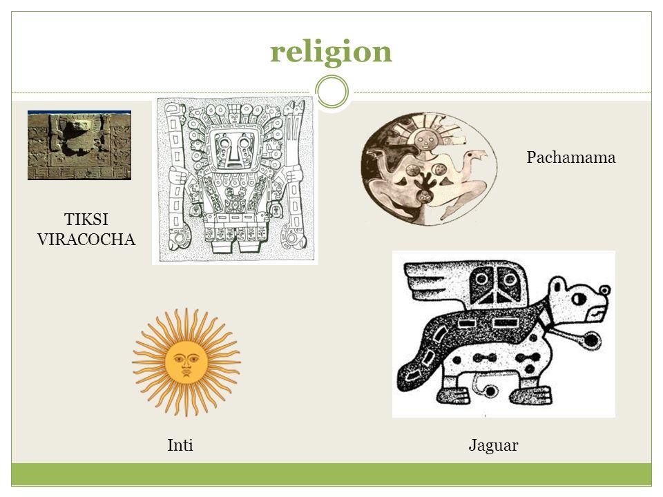 religion TIKSI VIRACOCHA Jaguar Pachamama Inti