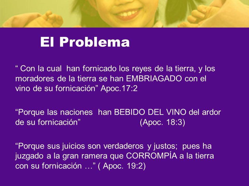 El Problema Con la cual han fornicado los reyes de la tierra, y los moradores de la tierra se han EMBRIAGADO con el vino de su fornicación Apoc.17:2 P