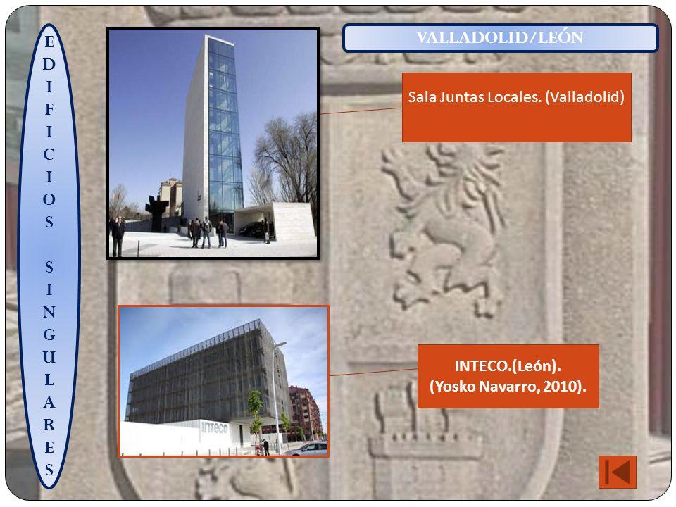 EDIFICIOSSINGULARESEDIFICIOSSINGULARES VALLADOLID/LEÓN Sala Juntas Locales.