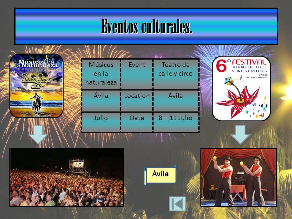Ávila Eventos culturales.