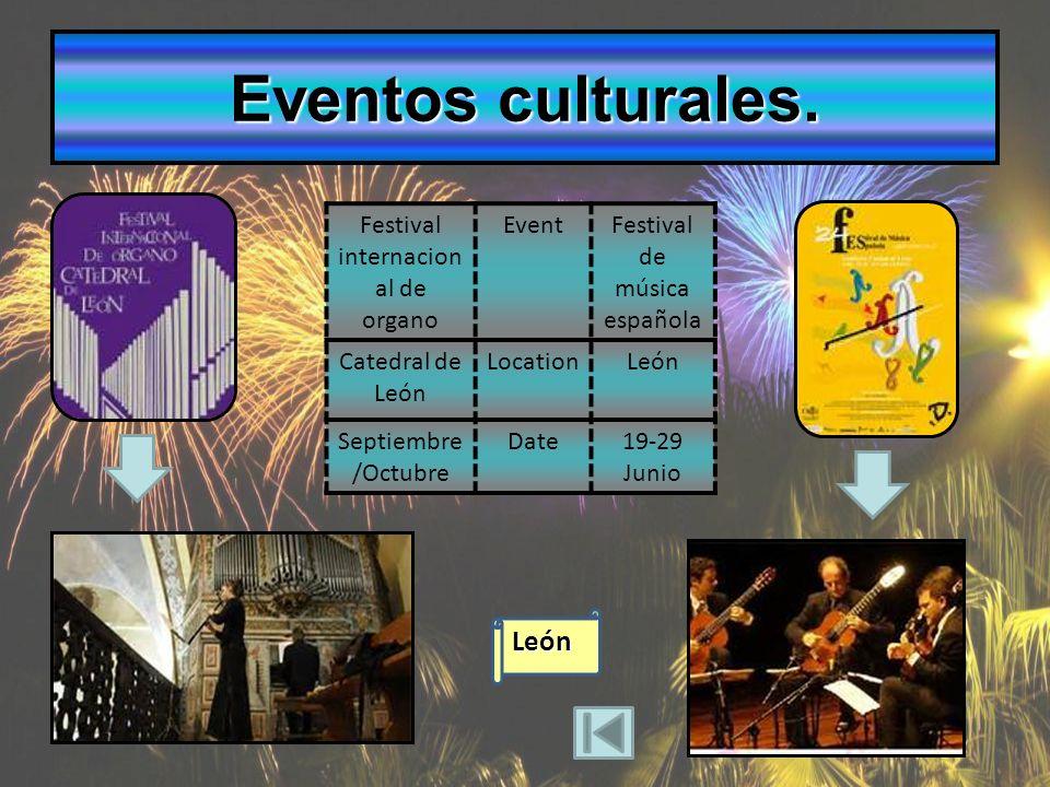 Eventos culturales.