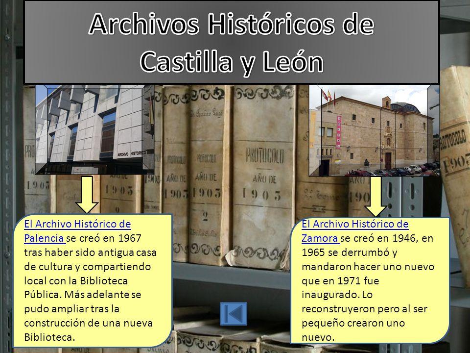 El Archivo Histórico de Palencia El Archivo Histórico de Palencia se creó en 1967 tras haber sido antigua casa de cultura y compartiendo local con la Biblioteca Pública.