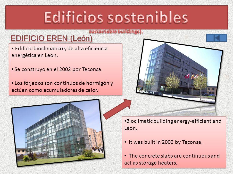 Edificio bioclimático y de alta eficiencia energética en León.