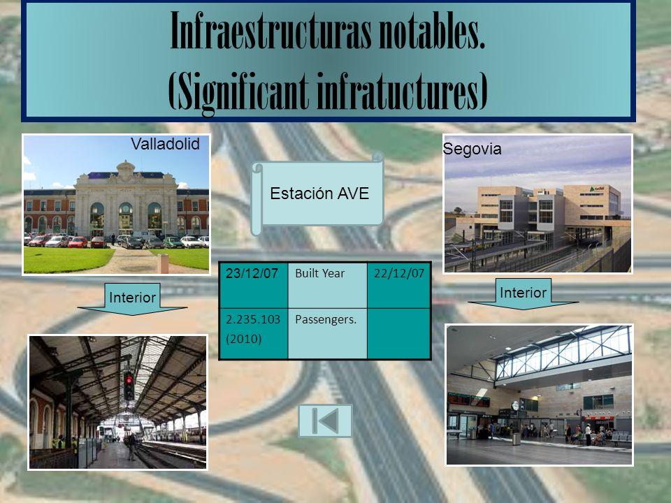 Infraestructuras notables.