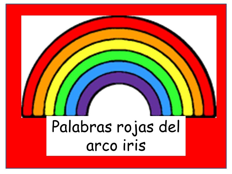 Palabras rojas del arco iris