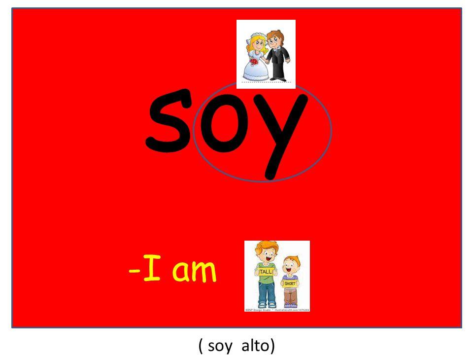 soy -I am ( soy alto)