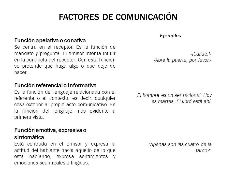 FACTORES DE COMUNICACIÓN Función estética o poética Esta función está orientada al mensaje.