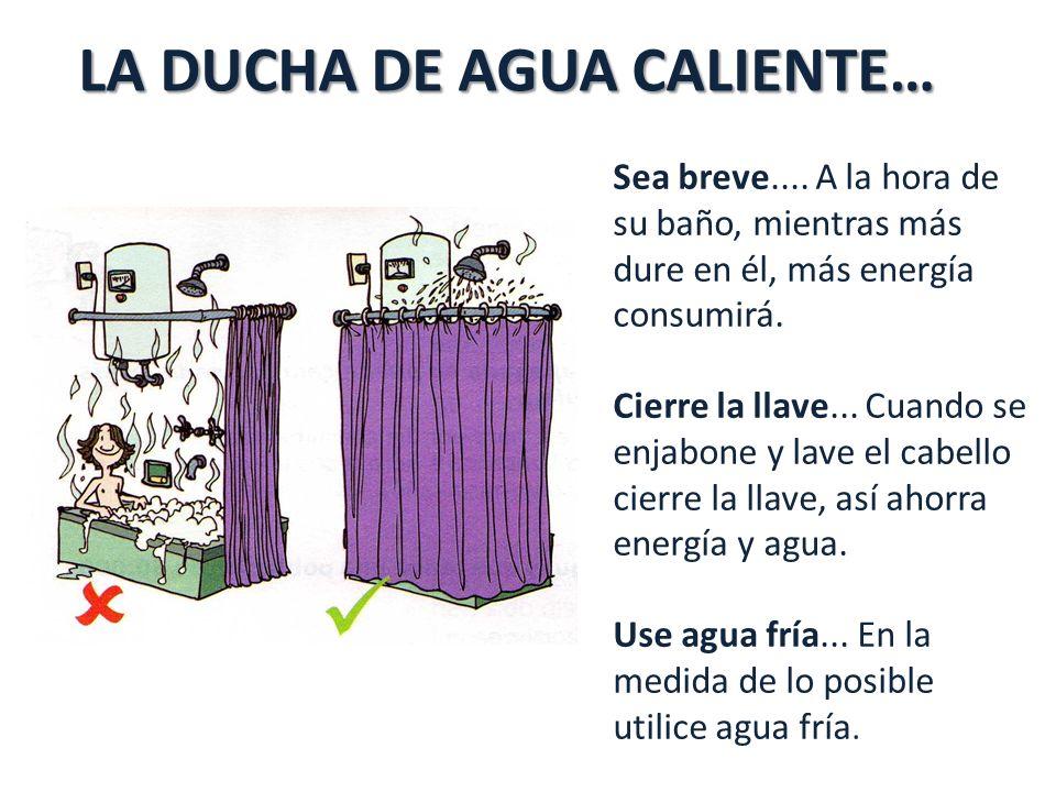 LA DUCHA DE AGUA CALIENTE… Sea breve....
