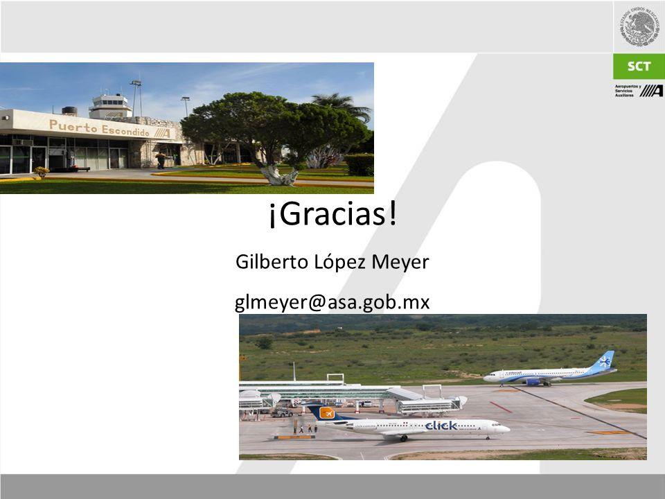 ¡Gracias! Gilberto López Meyer glmeyer@asa.gob.mx