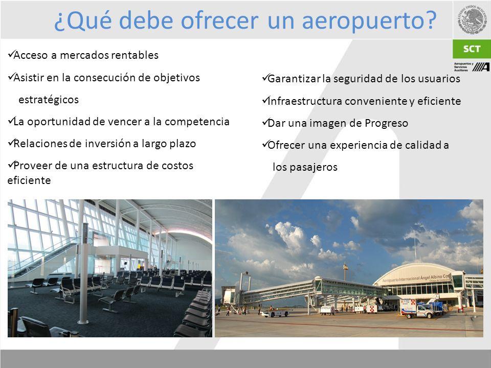 ¿Qué debe ofrecer un aeropuerto.