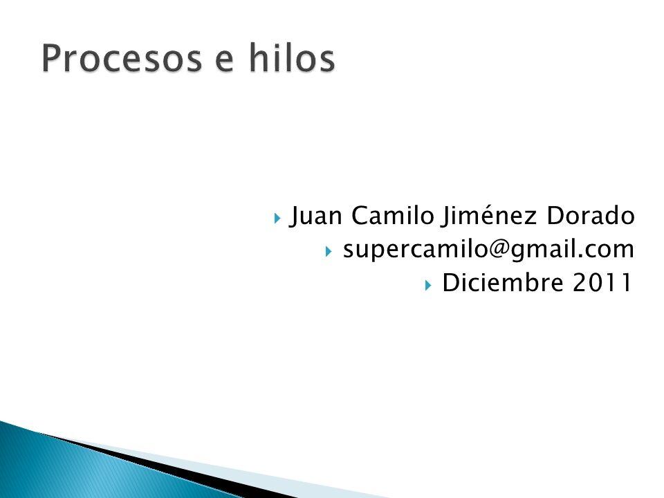 Juan Camilo Jiménez Dorado supercamilo@gmail.com Diciembre 2011