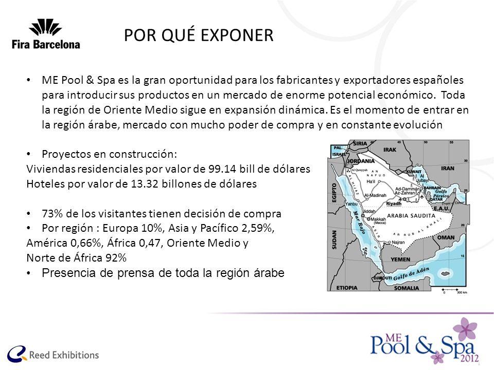 POR QUÉ EXPONER ME Pool & Spa es la gran oportunidad para los fabricantes y exportadores españoles para introducir sus productos en un mercado de enor