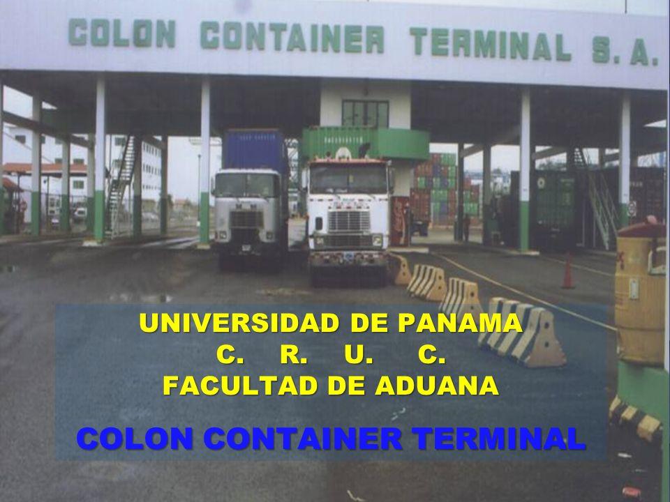 UNIVERSIDAD DE PANAMA C. R. U. C. FACULTAD DE ADUANA COLON CONTAINER TERMINAL