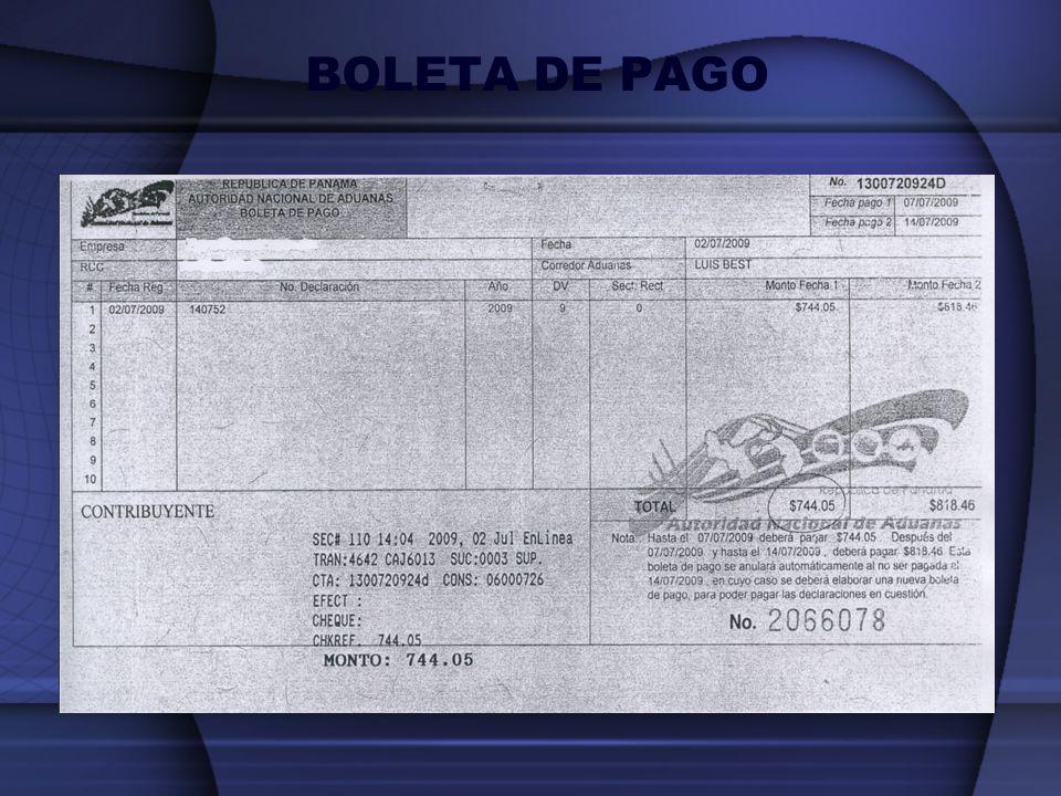 BOLETA DE PAGO