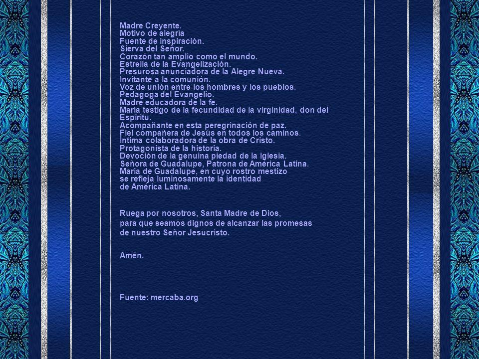 MÁS PIROPOS A MARÍA: Letanía mariana desde Puebla Señor, ten piedad de nosotros.