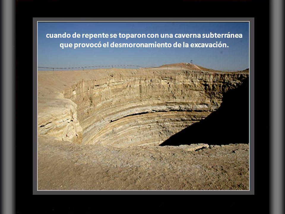Un equipo de geólogos se encontraba perforando el terreno en busca de yacimientos de gas natural,