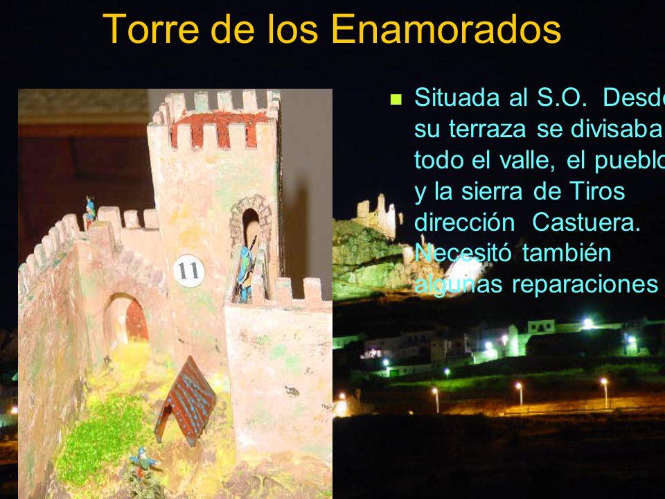 Torre de los Enamorados Situada al S.O. Desde su terraza se divisaba todo el valle, el pueblo y la sierra de Tiros dirección Castuera. Necesitó tambié