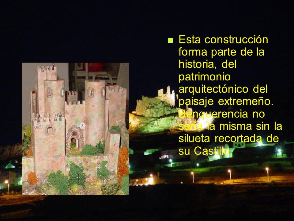 Esta construcción forma parte de la historia, del patrimonio arquitectónico del paisaje extremeño. Benquerencia no sería la misma sin la silueta recor
