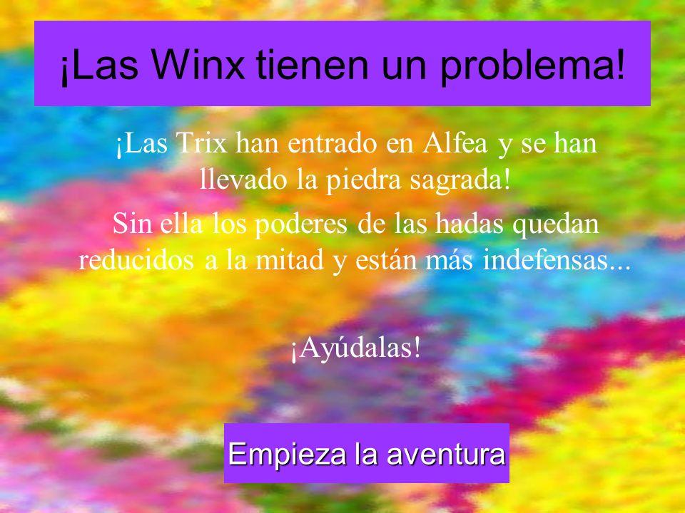¡Las Winx tienen un problema! ¡Las Trix han entrado en Alfea y se han llevado la piedra sagrada! Sin ella los poderes de las hadas quedan reducidos a