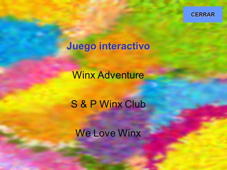 Juego interactivo Winx Adventure S & P Winx Club We Love Winx CERRAR