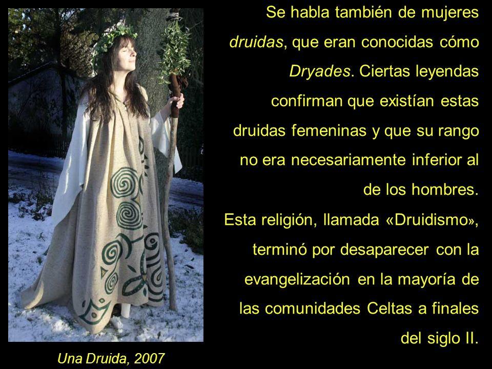 Se habla también de mujeres druidas, que eran conocidas cómo Dryades. Ciertas leyendas confirman que existían estas druidas femeninas y que su rango n