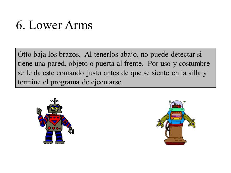 6. Lower Arms Otto baja los brazos.