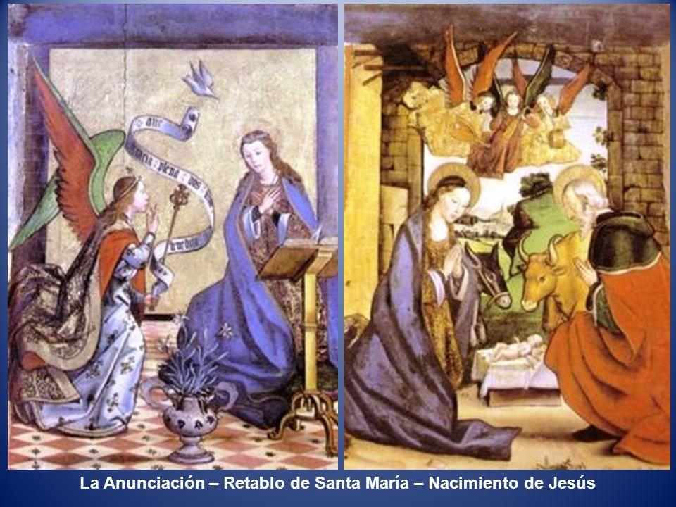 Encuentro en la puerta Dorada – Retablo Sta María – Desposorios de la Virgen