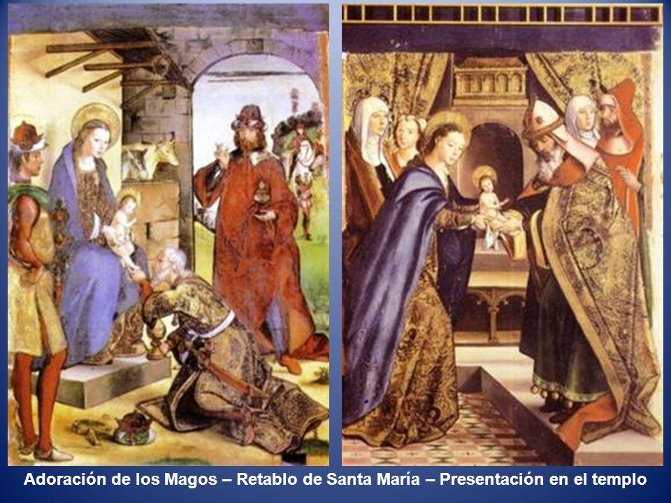 La Anunciación – Retablo de Santa María – Nacimiento de Jesús