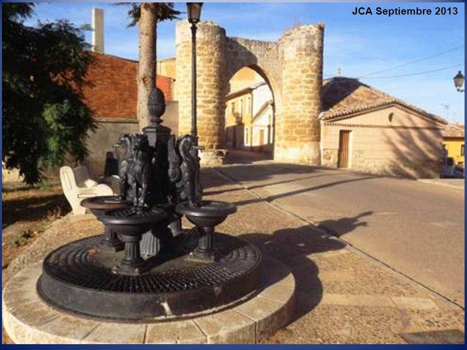 Bordea la villa, desde el norte hacia el suroeste, el ramal de Campos del Canal de Castilla, una de las más importantes obras de ingeniería de la Espa