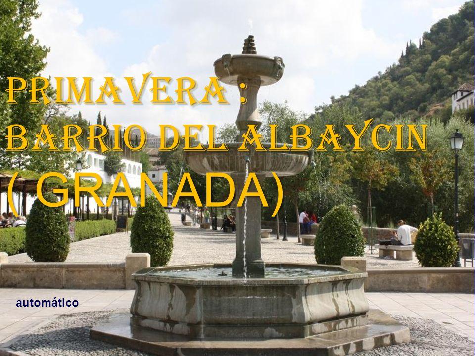 PRIMAVERA : BARRIO DEL ALBAYCIN ( GRANADA) automático