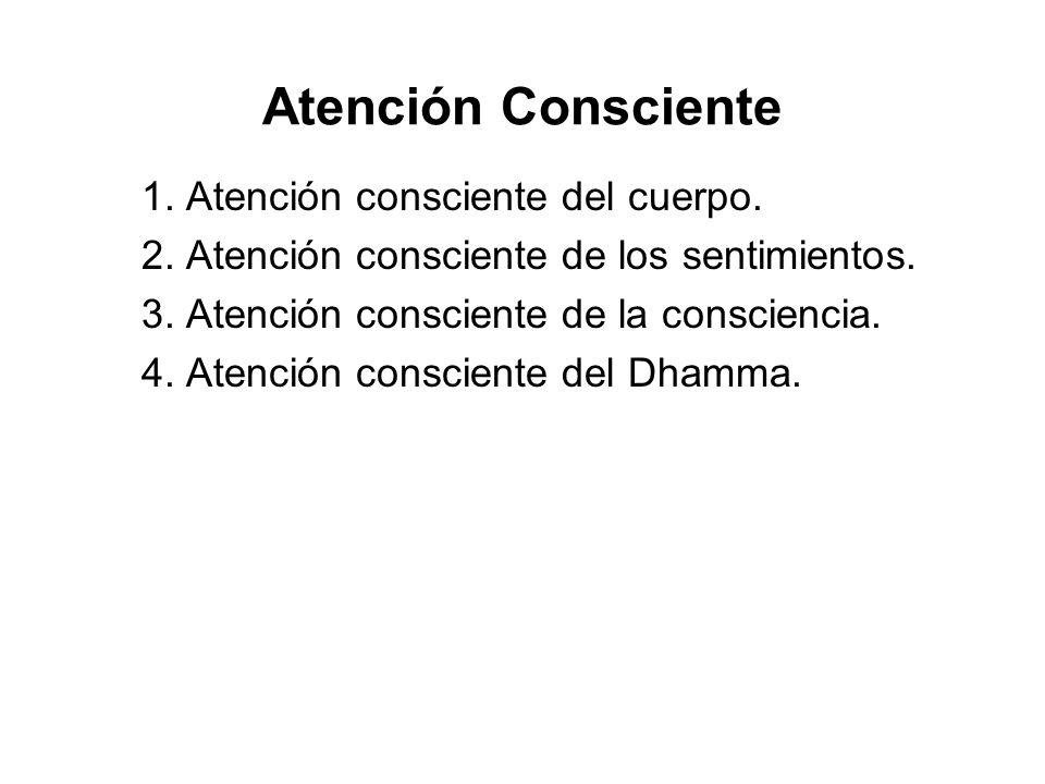 Atención Consciente 1. Atención consciente del cuerpo. 2. Atención consciente de los sentimientos. 3. Atención consciente de la consciencia. 4. Atenci