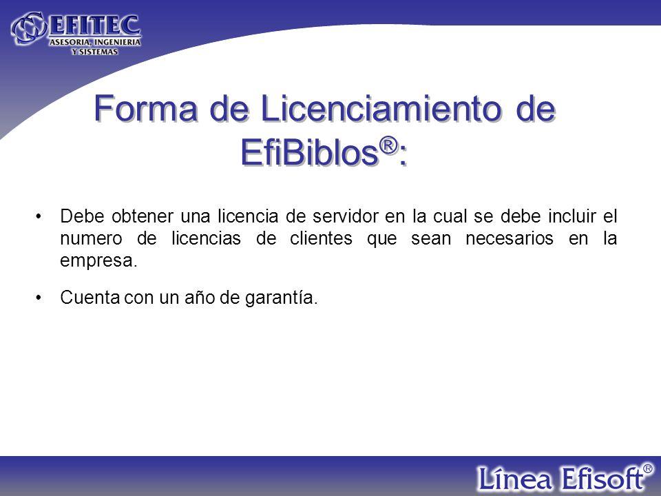 EfiBiblos ® es parte de la línea Efisoft ® desarrollado por: