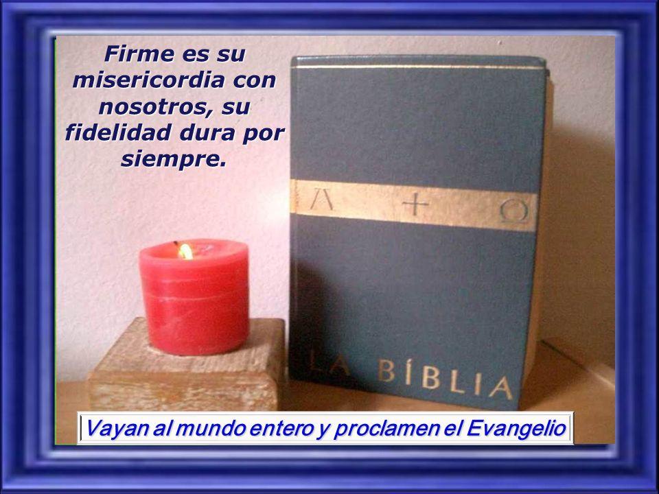 Vayan al mundo entero y proclamen el Evangelio