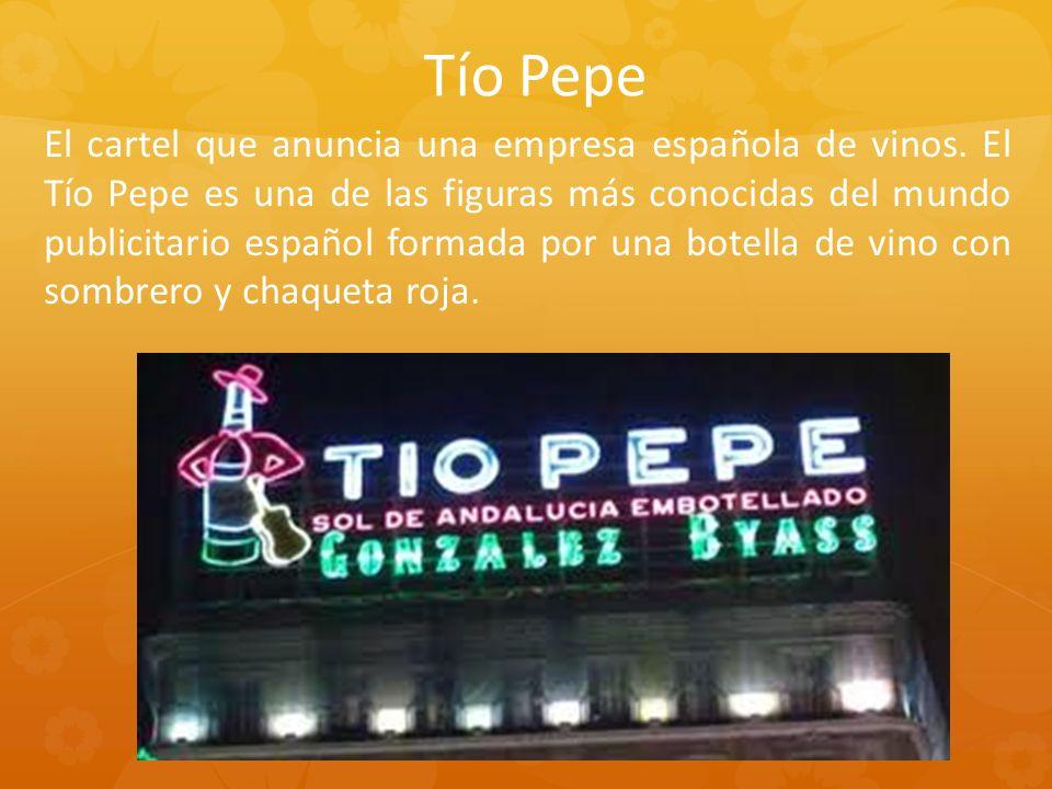 El cartel que anuncia una empresa española de vinos.