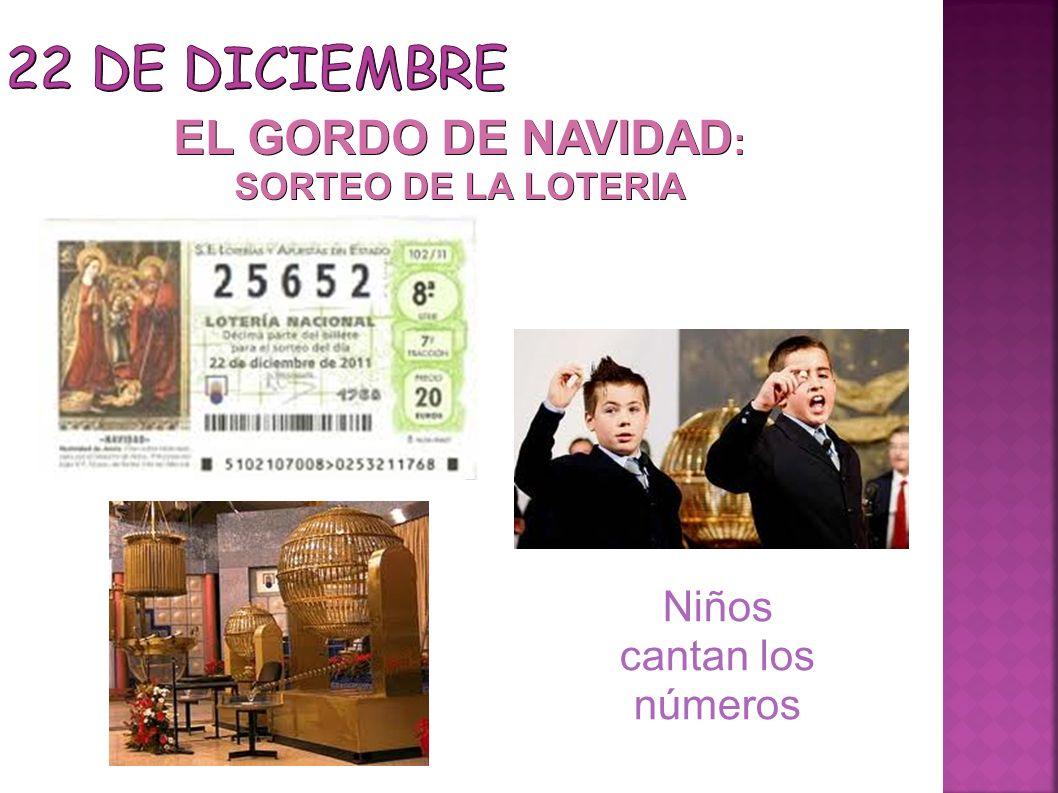 EL GORDO DE NAVIDAD: SORTEO DE LA LOTERIA Niños cantan los números