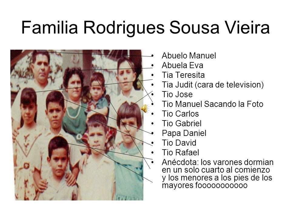Esposos Rodriguez Nuñes Padres de Abuelo Manuel Visabuelo Antonio Nuñes Visabuela …..Rodrigues Anécdotas: tardaban dos horas caminando hasta la Iglesia de de Santa Cruz los domingos.