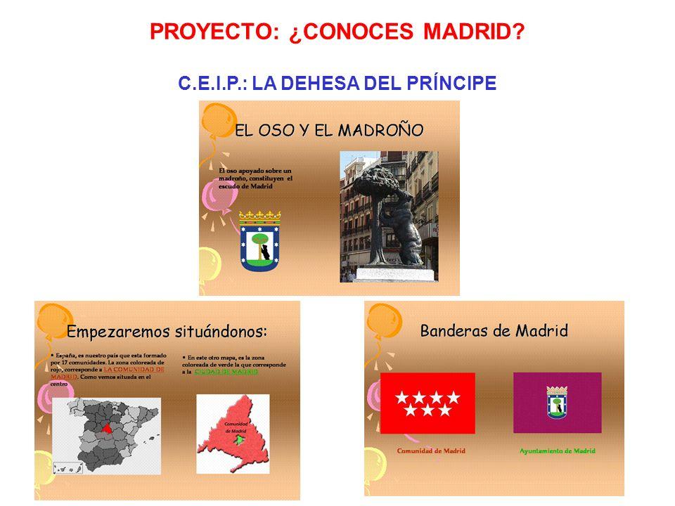 Resolver el trivial. PROYECTO: ¿CONOCES MADRID? C.E.I.P.: LA DEHESA DEL PRÍNCIPE