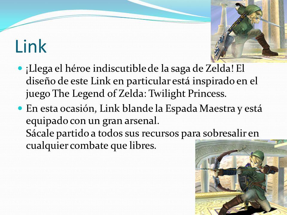 Link ¡Llega el héroe indiscutible de la saga de Zelda! El diseño de este Link en particular está inspirado en el juego The Legend of Zelda: Twilight P
