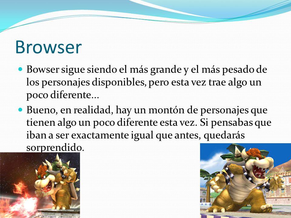 Browser Bowser sigue siendo el más grande y el más pesado de los personajes disponibles, pero esta vez trae algo un poco diferente... Bueno, en realid