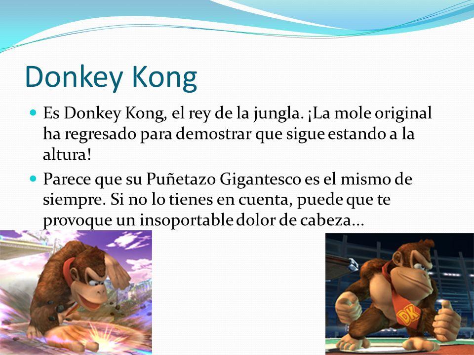 Donkey Kong Es Donkey Kong, el rey de la jungla. ¡La mole original ha regresado para demostrar que sigue estando a la altura! Parece que su Puñetazo G