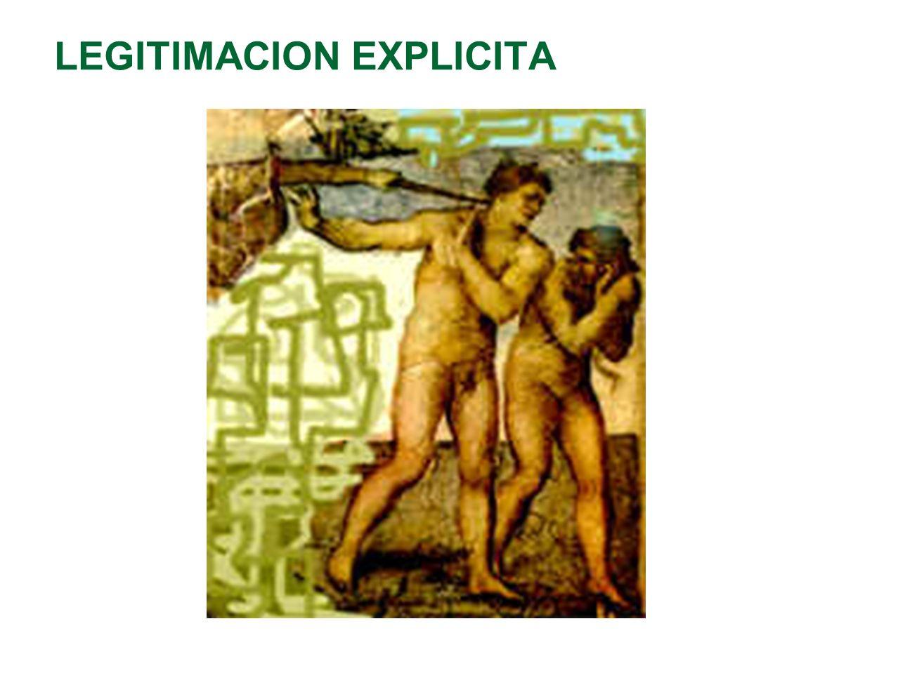 LEGITIMACION EXPLICITA