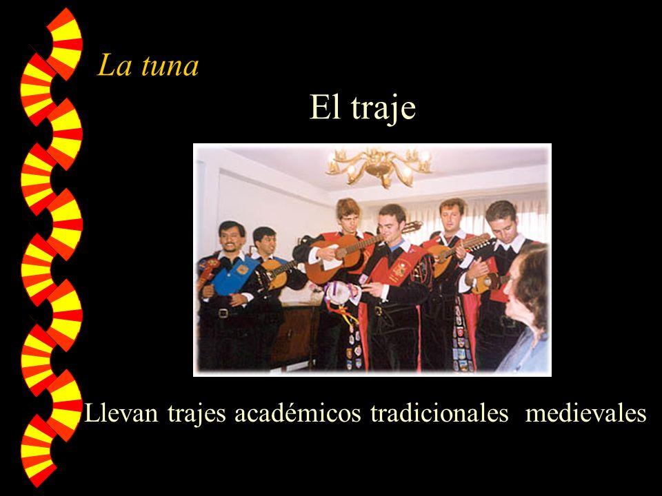 La tuna El traje Llevan trajes académicos tradicionales medievales