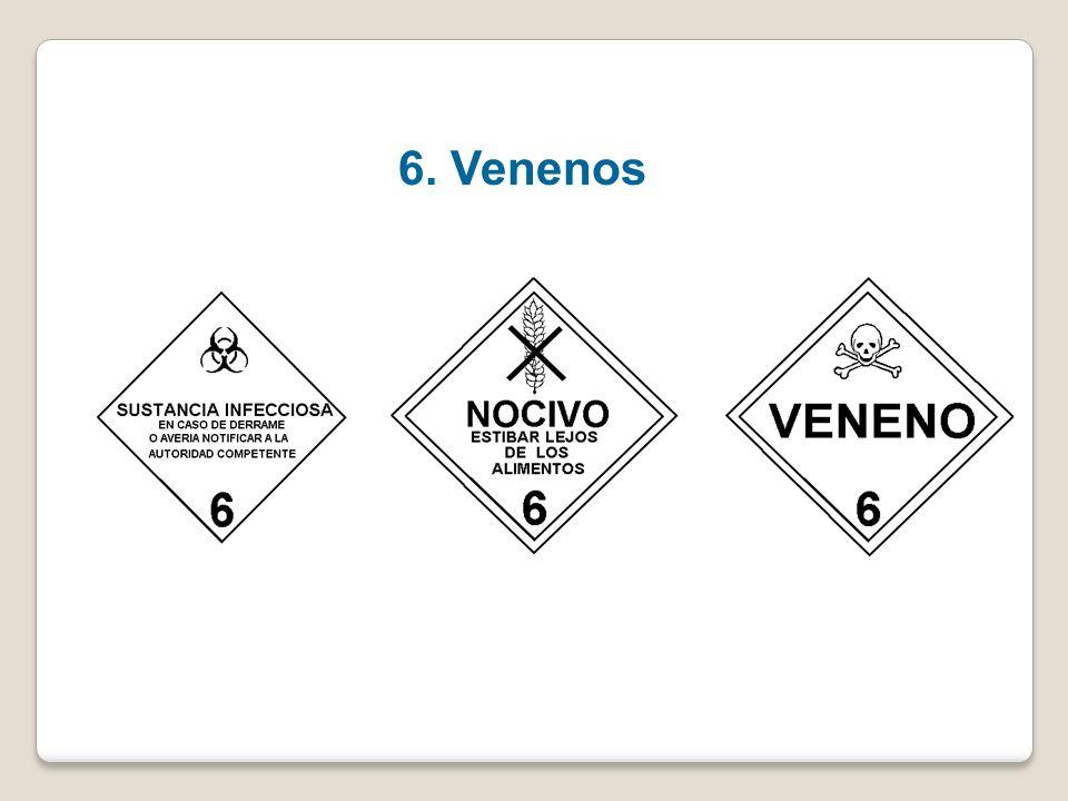 Clase 6- Sustancias venenosas (tóxicas) y sustancias infecciosas División 6.1 Sustancias venenosas (tóxicas) División 6.2 Sustancias infecciosas NCh 2