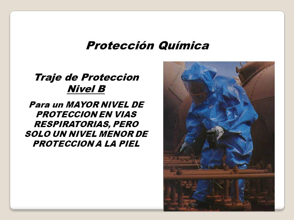 Protección Química Traje de Proteccion Nivel A Para un MAYOR NIVEL DE PROTECCION EN VIAS RESPIRATORIAS, LA PIEL Y LOS OJOS.