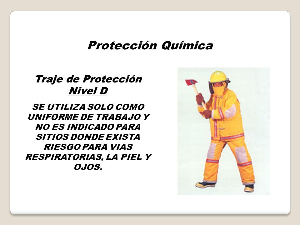 Protección Química Traje de Protección Nivel C Para un MENOR NIVEL DE PROTECCION A VIAS RESPIRATORIAS, Y UNA PROTECCION A LA PIEL SIMILAR AL NIVEL B